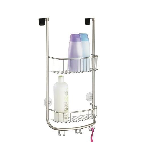 InterDesign Forma Over Door Shower Caddy, Small Hanging Bathroom Shelves,  Made Of Metal