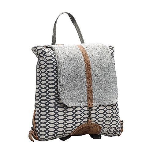 1b2a67c2ca42a Myra Bag Honey Bee Cowhide & Upcycled Canvas Backpack S-1162 ...
