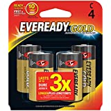 Eveready Gold Alkaline Batteries C, 4-Count (Pack of 2)