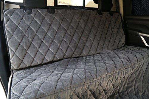 Plush Paws Ultra-Premium Velvet Pet Seat Cover, Hammock Convertible, Full Waterproof for Cars, Trucks & SUVs, London Grey - Velvet London