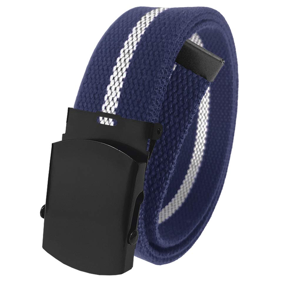 52cbc9e1dd3c02 Amazon.com: Cut to Fit Men's Canvas Web Golf Belt with Black Slider Belt  Buckle Sizing up to 70