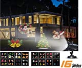 [Christmas Party LED Projector Light] GroGou Film LED Projector Lights Moving Rotating Landscape Lamp with 16 Pattern Lens for Halloween (2) ,Christmas (5) Other Holiday/Celebrations (9)