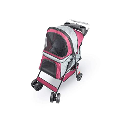 NYJ Cochecito de Viaje para Mascotas Perro Gato Cochecito Cochecito Infantil Cochecito Buggy con 4 Ruedas