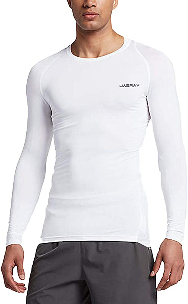 Homme Athletic Workout Sport Maillot de compression à manches longues T-shirts Running Pantalon