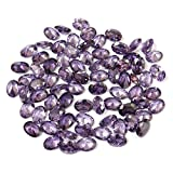 Neerupam collection Amethyst Colour Cubic Zirconia AAA Quality Diamond Cut Oval Shape loose gemstone