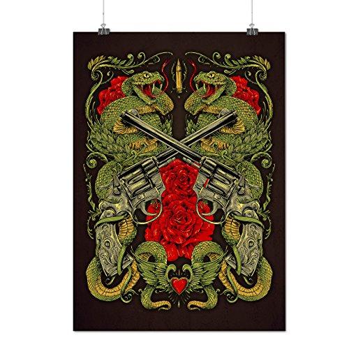 Dragon Gun Rose Gangster Matte/Glossy Poster A3 (42cm x 30cm)   (True Blood Costumes Uk)
