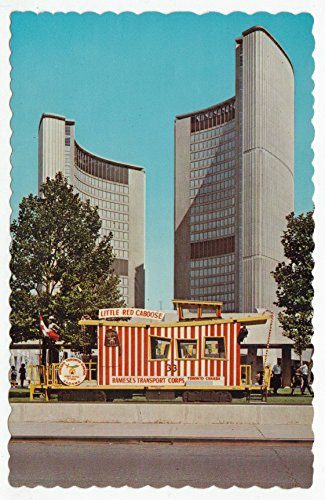 The Shriners Little Red Caboose, Toronto City Hall, Ontario, Canada Vintage Original Postcard #1226 - 1970's (Canada City Hall)