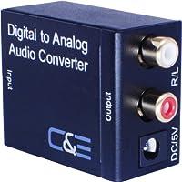 C&E Digital Optical Coax to Analog R/L audio converter