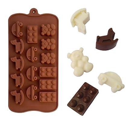 Pulison Molde de Silicona para Pastel de Chocolate: Amazon ...
