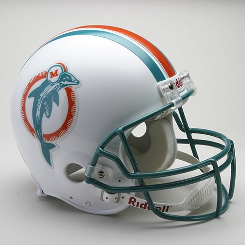 Riddell Miami Dolphins 1980-1996 Authentic Throwback Helmet- Teal Face Mask by Riddell
