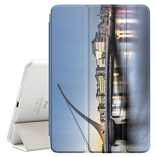 Graphic4You Dublin Ireland Postcard View Ultra Slim Case Smart Cover Stand [with Sleep/Wake Function] for Apple iPad Air 10.5