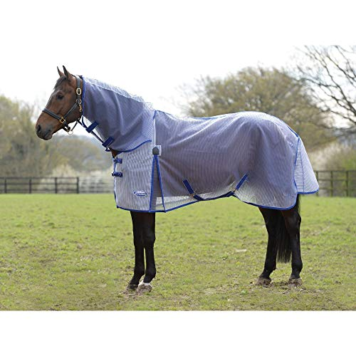 (Weatherbeeta Comfitec Ripshield Plus Combo Neck Turnout Rug (5 ft 9) (White/Blue))