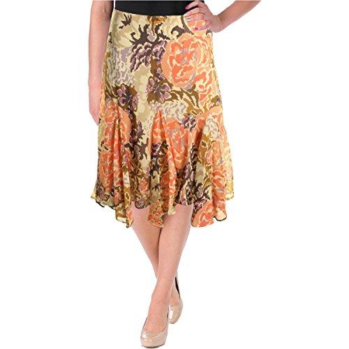 LAUREN RALPH LAUREN Womens Floral Print Pull On Flounce Skirt Multi XL - Lauren Skirt Print Ralph