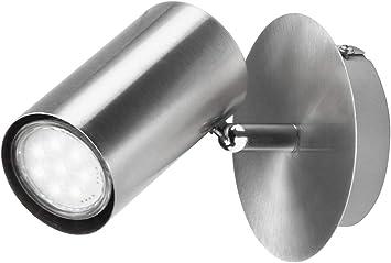 Drehbare LED Wandlampe Nickel matt Design Leuchte Flurlampe Büroleuchte Spot