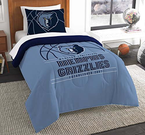 The Northwest Company Officially Licensed NBA Memphis Grizzlies Reverse Slam Twin Comforter and ()