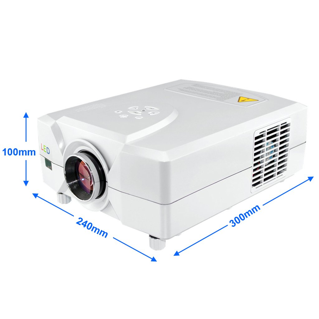 Excelvan CL312D Proyector DVB-T LED Digital TV (2200 Lumenes, HD ...