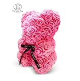 The 10' Pink Rose Hand Made Teddy Bear Artificial Forever Best Gift. Graduation Gift, Flowers for Valentine's Day, Mother's Day, Graduation, Christmas, Anniversaries, Birthdays, Weddings,