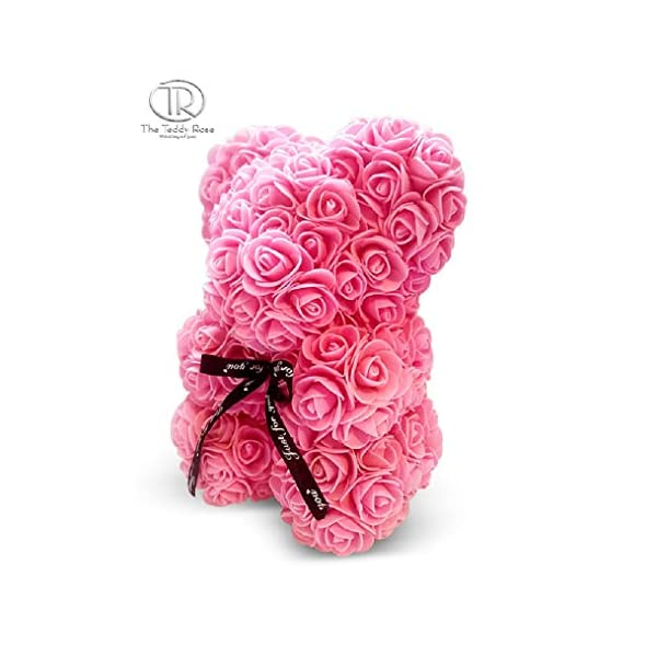 The 10″ Pink Rose Hand Made Teddy Bear Artificial Forever Best Gift. Graduation Gift, Flowers for Valentine's Day, Mother's Day, Graduation, Christmas, Anniversaries, Birthdays, Weddings,