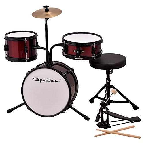 Spectrum ail 611r 3piezas Junior tambor trono, Kit con Crash & Rockin 'rojo