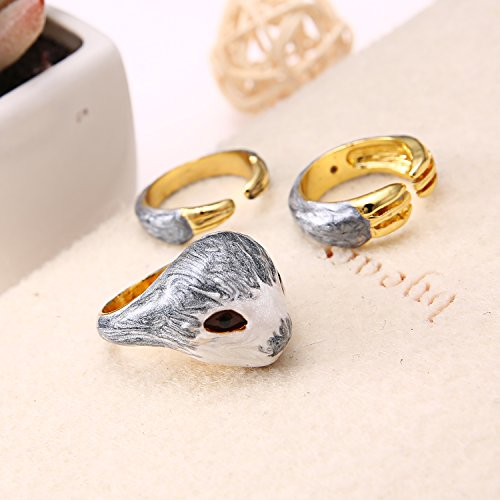 51SD5LB8unL - Sloth Rings