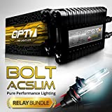 OPT7 Bolt AC 35w Slim H11 (H8, H9) HID Kit - Relay Bundle - All Bulb Sizes and Colors - 2 Yr Warranty [5000K Bright White Xenon Light]