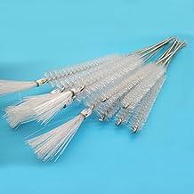 BIPEE Test Tube Washing Brush, 20mm Diameter, Nylon, White Color, Pack of 10