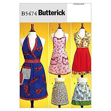 Butterick Schnittmuster 5474 – Schürzen mit lustigen Details: Amazon ...