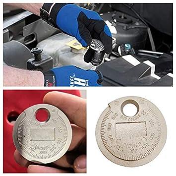 ETbotu - Medidor de bujías Tipo Moneda de 0,6 a 2,4 mm: Amazon.es: Coche y moto