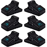 Pest Control Rat Traps (Set of 6) by Kat Sense | Humane Rat Trap for 100% Kill Results | Safe & Sanitary Mice Killer with Bait Cup | Effective Anti-Rodent Infestation Solution | Reusable & Mess Free
