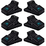 Pest Control Rat Traps (Set of 6) by Kat Sense   Humane Rat Trap for 100% Kill Results   Safe & Sanitary Rodent Killer with Bait Cup   Effective Anti-Rodent Infestation Solution   Reusable & Mess Free