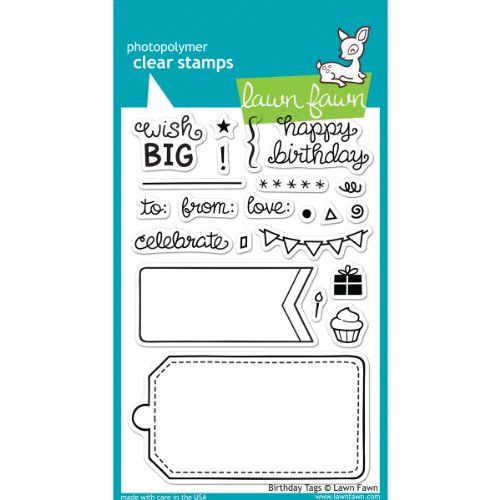 Lawn Fawn Clear Stamps - Birthday Tags #LF663 (Lawn Fawn Stamps Acrylic)