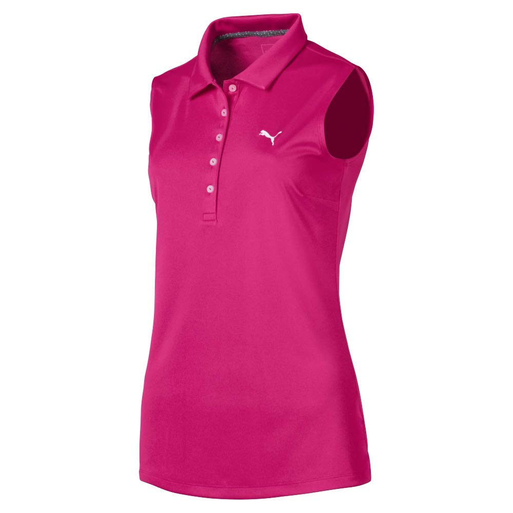 Puma Golf Women's 2019 Pounce Sleeveless Polo, Fuchsia Purple, x Large by PUMA