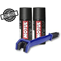 Grand Pitstop Combo of C2 and C1 Chain Clean Lube with Cleaning Brush (150 ml)