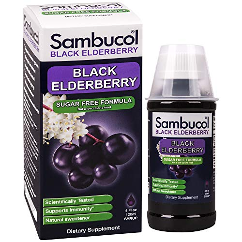 (Sambucol Black Elderberry Syrup, Sugar Free Formula, 4 Ounce Bottle)