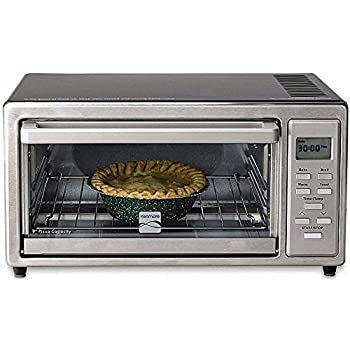 "Kenmore 4 slice Digital Toaster Oven with 9"" Ceramic Pizza Stone - Stainless Steel"