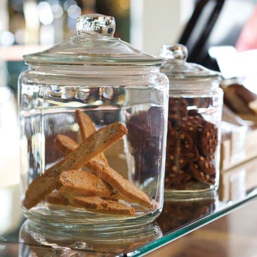 Barattoli in vetro per biscotti tovaglioli di carta - Barattoli cucina colorati ...