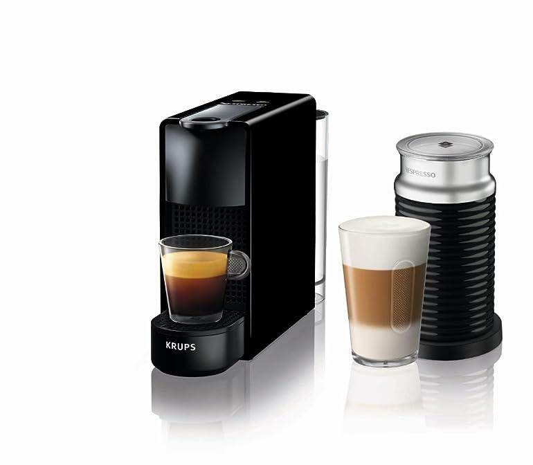 Nespresso Essenza Mini Coffee Machine with Aeroccino, Black by ...