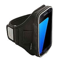 Sporteer Velocity V1xl Sport Armband for iPhone 7/iPhone 6S w/ Otterbox Case, Samsung Galaxy S8, Galaxy S7, Galaxy S7 Edge, S6, Google Pixel, LG G6, G5, Nexus 5X, Moto G, and Many More - Strap Size Small/Medium - Black