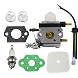 Hippotech Carburetor Repower Kit for Echo Tiller ZAMA C1U-K54A C1U-K54 C1U一k82 Works for 2-Cycle Mantis 7222 7222E 7222M 7225 7230 7234 7240 7920 7924