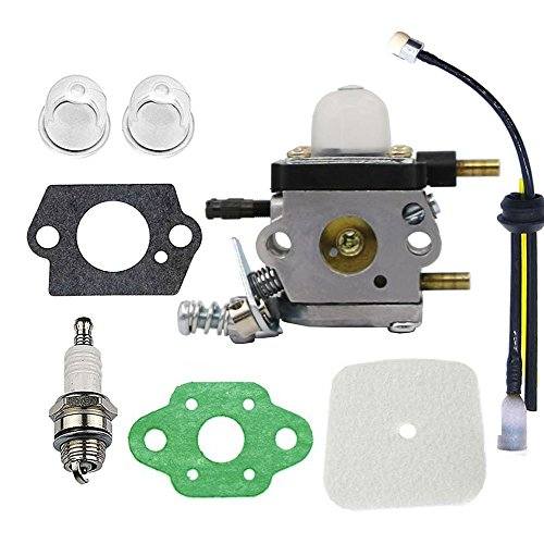 Hippotech Carburetor Repower Kit for Echo Tiller ZAMA C1U-K54A C1U-K54 C1U一k82 Works for 2-Cycle Mantis 7222 7222E 7222M 7225 7230 7234 7240 7920 7924 by Hippotech