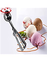 Buy 1 Piece New Ice Cream Spoon Stainless Steel Cookie Dough Scoop Cookie Mash Muffin Spoon Kichen Tools Spherical... deal