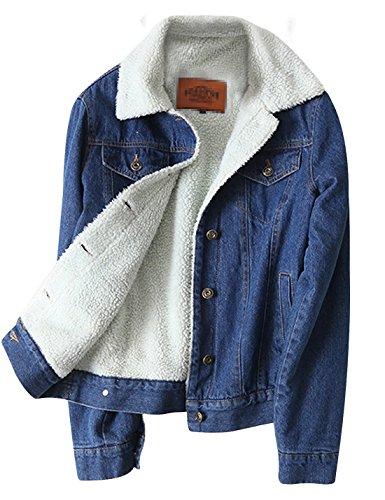 Lined Denim Jacket - 7