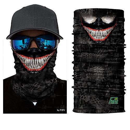 Bandana Headscarf 3D Devil Venom Face Spider Masks Scarfs Movie Scarf Mask Tube Neck Full Lower Half Shield Sun Hiking Headwear No.221