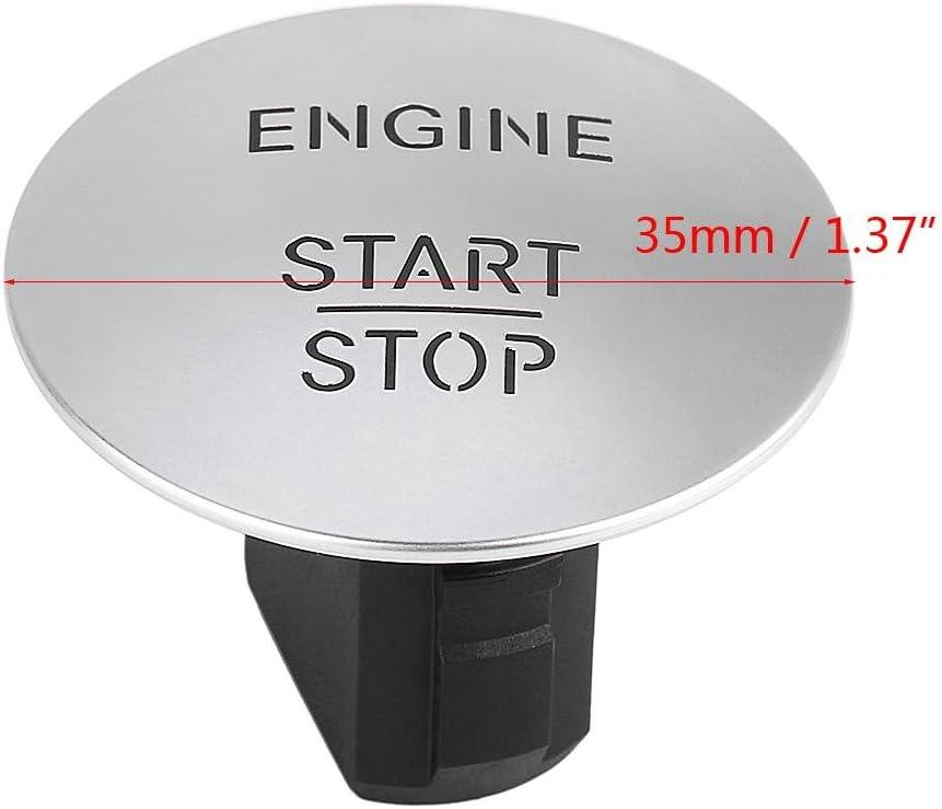 Motorstartknopf Samofx Keyless Go Start Stop Druckknopf Safe Lock Motor Z/ündschalter Kompatibel mit Mercedes 2215450714 Silber