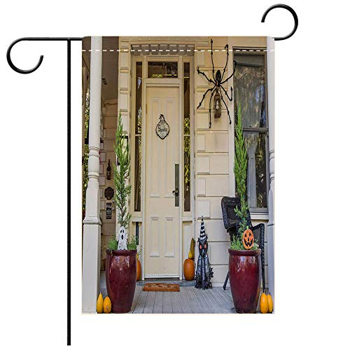 BEICICI Garden Flag Double-Sided Printing, Double Sided American Porch with Halloween Decoration in Nevada City Best for Party Yard and Home Outdoor Decor