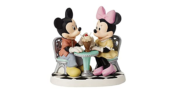 Precious Moments diseño de Mickey y Minnie Mouse compartir helado flotador figura decorativa: Amazon.es: Hogar