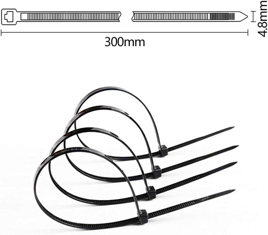 Hengda Collier de Serrage 150//200//300x3.6mm,Attache C/âble,Serre C/âbles Nylon haut de gamme Noir Lot de 300 Pi/èces pratique et durable