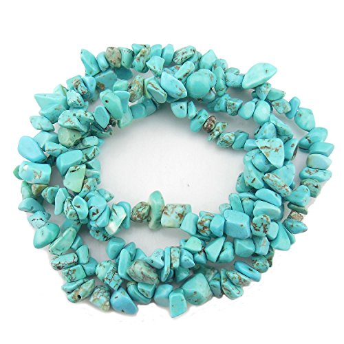 COIRIS 33'' Strand 5-8MM Turquoise Loose Chips Stone Beads for Jewelry DIY or Making & Design (St-1035)