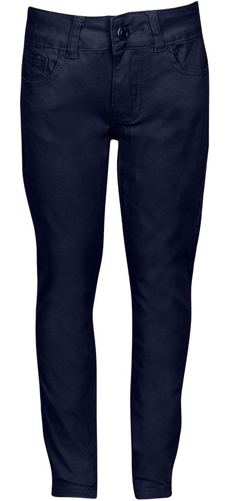 Premium Skinny Stretchable School Uniform Pants for Juniors 17 Navy