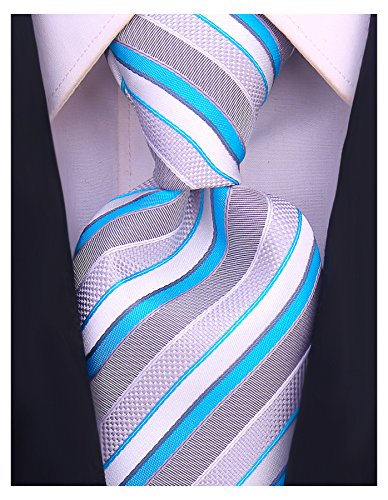 Striped Ties for Men - Woven Necktie - ()